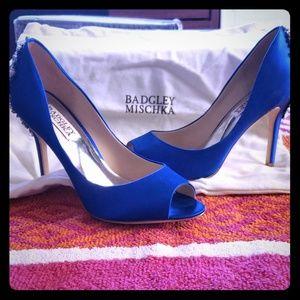 Blue Badgley Mischka heels